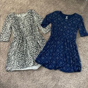 LOT OF (2) GIRLS SIZE 5 XS OLD NAVY DRESSES